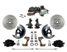 "LEED Brakes BFC1003-E1A1X Front Disc Brake Kit - Power 9"" Zinc - Black - MaxGrip - Disc Drum"