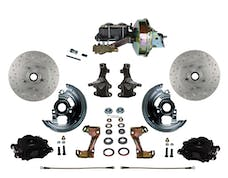 "LEED Brakes BFC1003-E1A3X Front Disc Brake Kit - Power 9"" Zinc - Black - MaxGrip - Disc Disc"