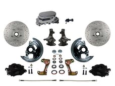 LEED Brakes BFC1003-F05X Front Disc Brake Kit - Manual - Chrome - Black - MaxGrip