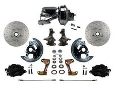 "LEED Brakes BFC1003-F6B2X Front Disc Brake Kit - Power 9"" Chrome - Black - MaxGrip - Adj. Valve"