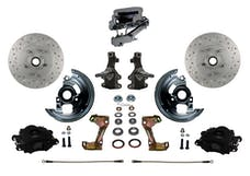 LEED Brakes BFC1003-FA3X Front Disc Brake Kit - Manual - Chrome - Black - MaxGrip Disc Disc