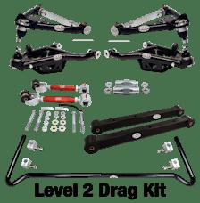 QA1 DK12-GMB4 Drag Kit, Level 2, 1978-1993 GM B-Body, W/O Shocks