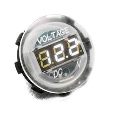 Race Sport Lighting RS4010W Clear Digital Volt Meter Round Gauge with LED Digital Lighting