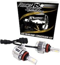 Race Sport Lighting 9006LED3S 9006 3-Sided Driverless LED Headlight Kit - 2,000LUX w/ OEM Kelvin Color