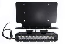 "Race Sport Lighting RSNRL62-1 US License Plate Bracket - Holds (1) 10"" Stealth Light Bar with 2 Bottom Mo"