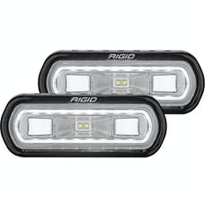 RIGID Industries 53120 SR-L Series Off-Road Spreader Pod 3 Wire Surface Mount With White Halo | Pair