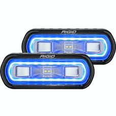 RIGID Industries 53121 SR-L Series Off-Road Spreader Pod 3 Wire Surface Mount With Blue Halo | Pair