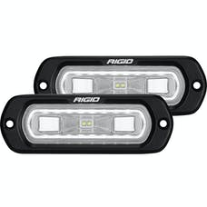 RIGID Industries 53220 SR-L Series Off-Road Spreader Pod 3 Wire Flush Mount With White Halo | Pair