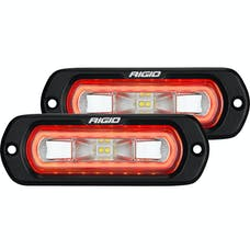 RIGID Industries 53222 SR-L Series Off-Road Spreader Pod 3 Wire Flush Mount With Red Halo | Pair