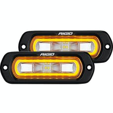 RIGID Industries 53223 SR-L Series Off-Road Spreader Pod 3 Wire Flush Mount With Amber Halo | Pair