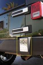 T-Rex Grilles 11485 T1 Exterior Trim, Brushed, Aluminum, 2 Pc, Bolt-On