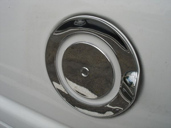TFP 802 Fuel Door Insert Outer and Inner Piece with Keyhole Plastic Chromed Finish