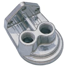 """Trans Dapt Performance 1028 Single Remote Oil Filter Base; 1/2"""" NPT VERTICAL Ports- PH8A (or equivalent)"""