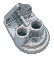 """Trans Dapt Performance 1075 Single Remote Oil Filter Base with 3/8"""" NPT VERTICAL Ports- PH8A (or equivalent)"""