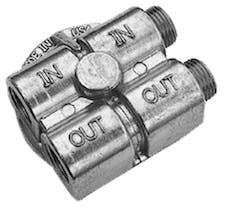 """Trans Dapt Performance 1458 90deg Oil Bypass Adapter; 2-1/2"""" I.D. 2-3/4"""" O.D. Filter Flange; 20mmX1.5 Thread"""