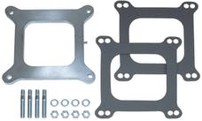 """Trans Dapt Performance 2094 3/8"""" Tall, HOLLEY 4BBL SPACER with TUBE and CAP -Open- CAST ALUMINUM Carb Spacer"""