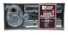"Trans Dapt Performance 3042 ""TIMING COVER"" Engine Kit; TALL Valve Covers; 58-86 CHEVROLET 283-350-CHROME"
