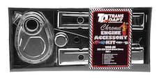 "Trans Dapt Performance 3043 ""TIMING COVER"" Engine Kit; SHORT Valve Covers; 58-86 CHEVROLET 283-350-CHROME"