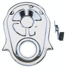Trans Dapt Performance 4935 Chrome Timing Chain Cover and Timing Tab- 1965-90 Chevy 396-454