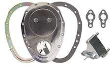Trans Dapt Performance 6015 ALUMINUM Timing Chain Cover, Gasket , Tab- Chevy 4.3L V6 or SB V8 (not for LT1)