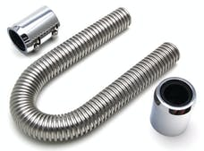 "Trans Dapt Performance 8203 24"" STAINLESS STEEL RADIATOR HOSE KIT-CHROMED ALUMINUM ENDS"