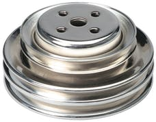 Trans Dapt Performance 8302 WATER PUMP Pulley; 3 Groove; 1964-1973 FORD 289; O.E. Water Pump-CHROME