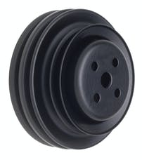 Trans Dapt Performance 8308 WATER PUMP Pulley; 3 Groove; 1964-1973 FORD 289; O.E. Water Pump- ASPHALT BLACK