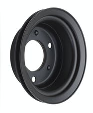 Trans Dapt Performance 8309 CRANKSHAFT Pulley; 1 Groove; 65-66 FORD 289; O.E. Water Pump- ASPHALT BLACK