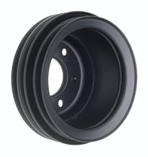 Trans Dapt Performance 8311 CRANKSHAFT Pulley; 3 Groove; 65-66 FORD 289; O.E. Water Pump- ASPHALT BLACK