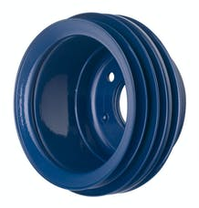 Trans Dapt Performance 8317 CRANKSHAFT Pulley; 3 Groove; 65-66 FORD 289; OE Water Pump- FORD BLUE