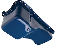 """Trans Dapt Performance 8350 1967-81 Ford 351W (no dipstick) """"OEM STYLE"""" Oil Pan- FORD Blue (Stock)"""