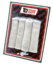 "Trans Dapt Performance 8815 SPARKPLUG WIRE BOOT PROTECTORS (4 pcs.); Universal Fit; 6"" Long- SILVER"