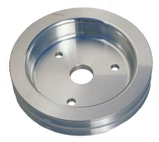 Trans Dapt Performance 8877 CRANKSHAFT Pulley; 2 Groove; CHEVROLET 396-454; SHORT W/P- Mach. ALUMINUM