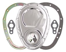 Trans Dapt Performance 8909 2-Piece CHROME Timing Chain Cover Set- SB Chevy V8 (not for LT1)