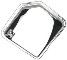 Trans Dapt Performance 9074 TH350-CHROME Transmission Pan; Stock Capacity; Stock Depth; PLAIN Bottom