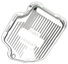 Trans Dapt Performance 9121 TH400-CHROME Transmission Pan; Stock Capacity; Stock Depth; FINNED Bottom