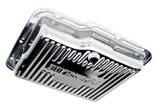 Trans Dapt Performance 9124 POWERGLIDE-CHROME Transmission Pan; Stock Capacity; Stock Depth; FINNED Bottom