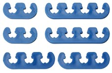 "Trans Dapt Performance 9372 BLUE ""DELUXE"" Style Plug Wire Separators. Fits 7 to 9mm Wires"