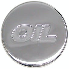 """Trans Dapt Performance 9787 PUSH-IN """"Style"""" OIL CAP; 1-1/4"""" hole; Rubber with CHROME Top- PLAIN"""