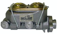 "Tuff Stuff Performance 2020NB Dual reservoir master cylinder 1"" bore shallow hole dual port plain"