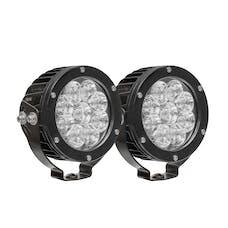 WESTiN Automotive 09-12007B-PR HP LED Auxiliary Light 4.75 inch Round Flood w/3W Osram (Set of 2)