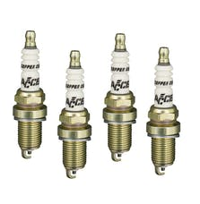ACCEL 0416S-4 Spark Plugs 14mm Thread, Shorty 4-pk