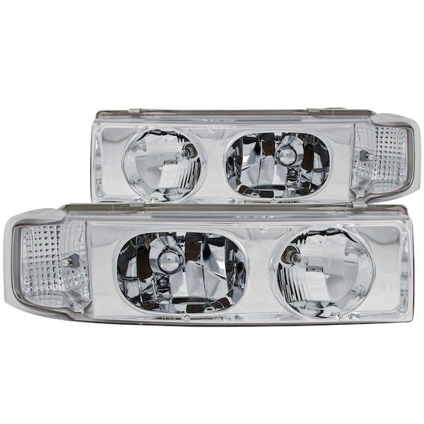 AnzoUSA 111001 Crystal Headlights Chrome 1pc