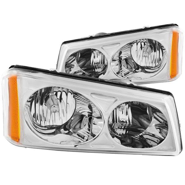 AnzoUSA 111010 Crystal Headlights Chrome