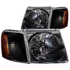 AnzoUSA 111041 Crystal Headlights Black