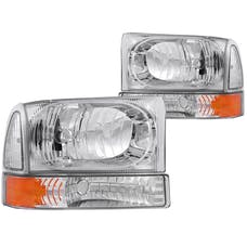 AnzoUSA 111081 Crystal Headlights Chrome with LED 1pc