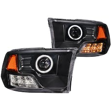 AnzoUSA 111159 Projector Headlights with Halo Black (SMD LED)