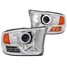 AnzoUSA 111160 Projector Headlights with Halo Chrome (SMD LED)