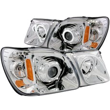 AnzoUSA 111169 Projector Headlights with Halo Chrome (SMD LED)