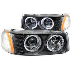 AnzoUSA 111192 Projector Headlights with Halo Black